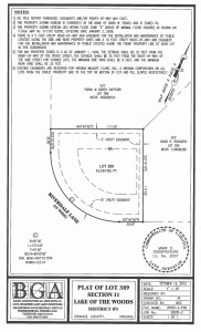 Plat of Lot 389 LOW